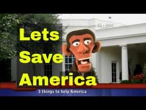 Presidential Puppet Obama's 3 Things to Save America