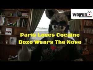 Wolfun TV - Paris snorts a line off Bozo the clowns WHAT??